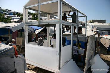Uber Shelter Under Construciton in Haiti-Laurel Cummings