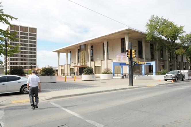 Traci Lesneski - Tulsa City-County Central Library - before photo exterior