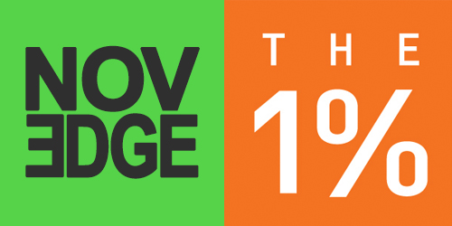 Novedge + 1% Logo