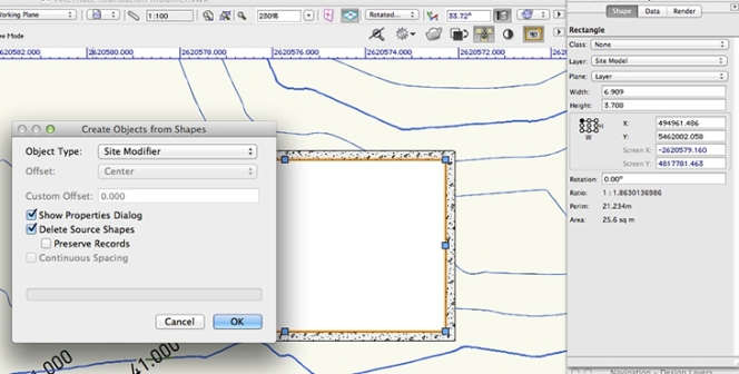 Vectorworks - Site Modifier