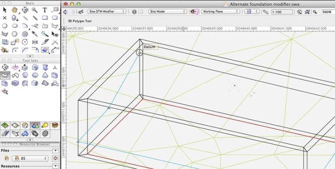Vectorworks - 3D Polygon Tool