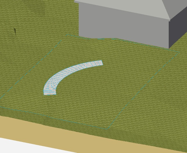 Vectorworks - Hardscape object set to act as a Texture Bed
