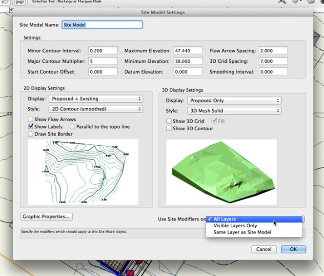 Vectorworks - Site Model setup