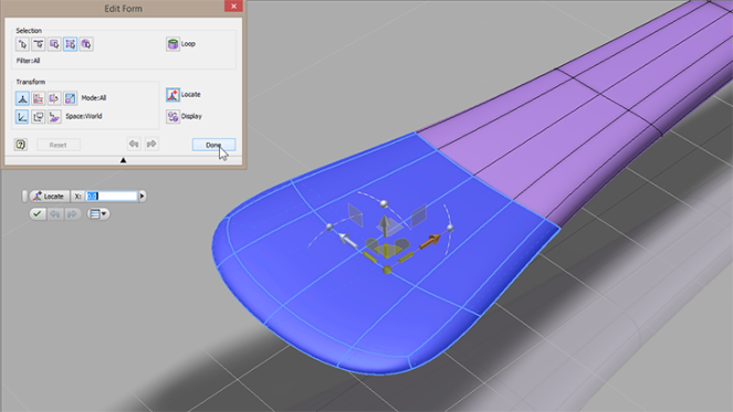 Autodesk Inventor Freeform editing a T-Splines spoon - Paul Munford