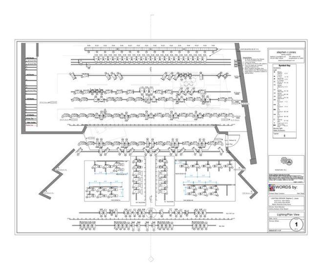 Stephen C Jones - Words lighting plot