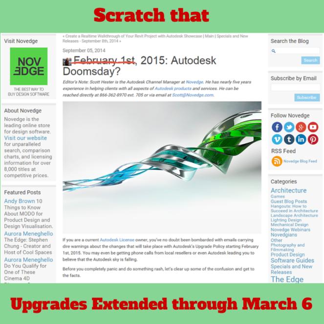Autodesk Upgrades Extension