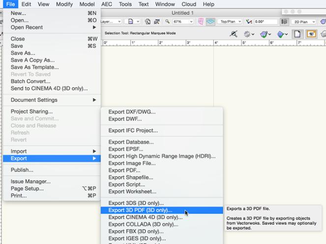 Export 3D PDF
