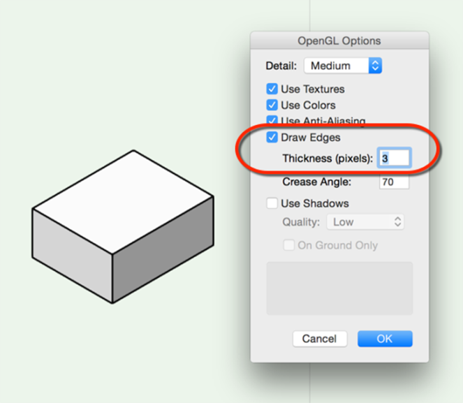OpenGL edge thickness