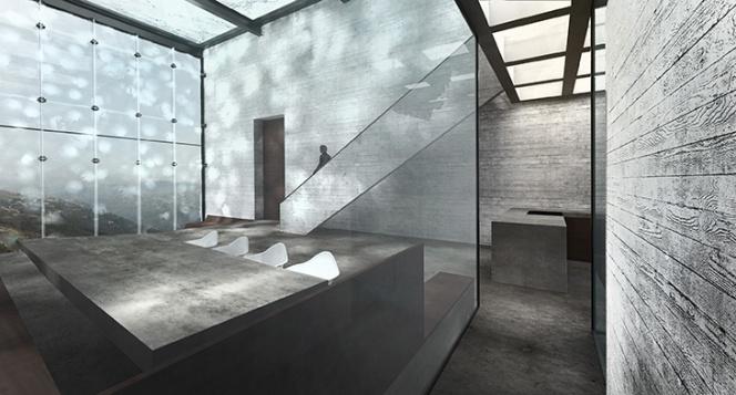 OPA-Casa Brutale Interior 01 Concrete Planks